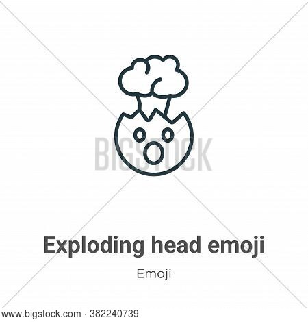 Exploding Head Emoji Icon From Emoji Collection Isolated On White Background.