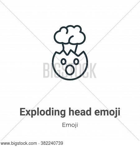 Exploding head emoji icon isolated on white background from emoji collection. Exploding head emoji i