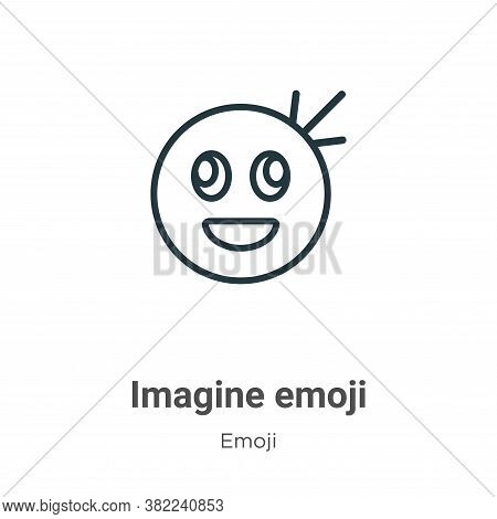 Imagine emoji icon isolated on white background from emoji collection. Imagine emoji icon trendy and
