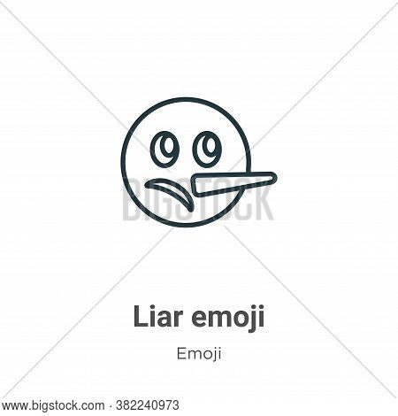 Liar emoji icon isolated on white background from emoji collection. Liar emoji icon trendy and moder