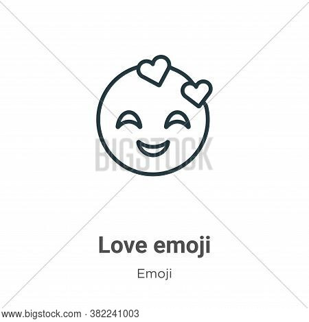 Love emoji icon isolated on white background from emoji collection. Love emoji icon trendy and moder