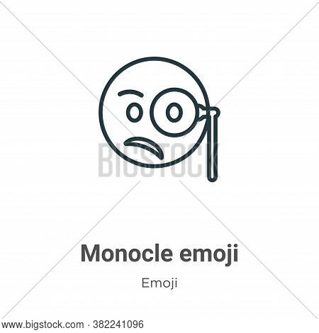 Monocle emoji icon isolated on white background from emoji collection. Monocle emoji icon trendy and