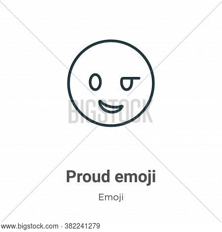 Proud emoji icon isolated on white background from emoji collection. Proud emoji icon trendy and mod