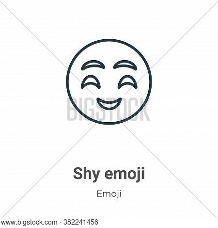Shy emoji icon isolated on white background from emoji collection. Shy emoji icon trendy and modern