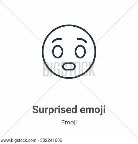 Surprised emoji icon isolated on white background from emoji collection. Surprised emoji icon trendy
