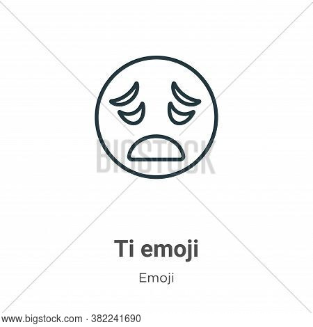 Tired emoji icon isolated on white background from emoji collection. Tired emoji icon trendy and mod