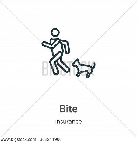 Bite icon isolated on white background from insurance collection. Bite icon trendy and modern Bite s