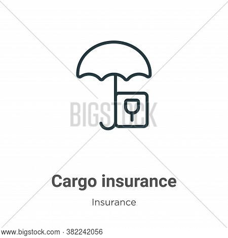 Cargo insurance icon isolated on white background from insurance collection. Cargo insurance icon tr