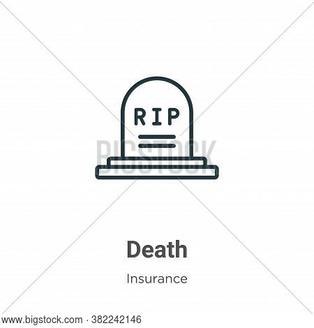 Death icon isolated on white background from insurance collection. Death icon trendy and modern Deat