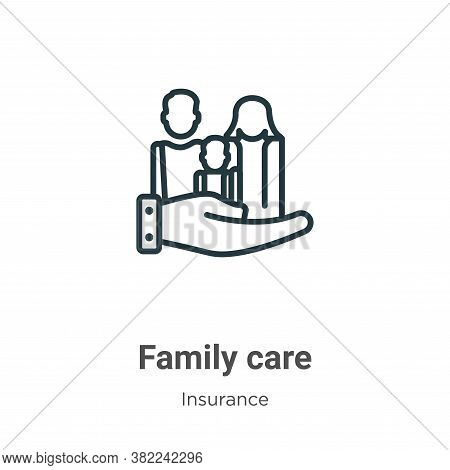 Family care icon isolated on white background from insurance collection. Family care icon trendy and