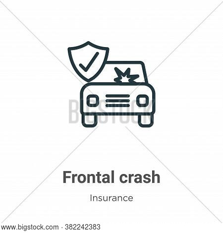 Frontal crash icon isolated on white background from insurance collection. Frontal crash icon trendy