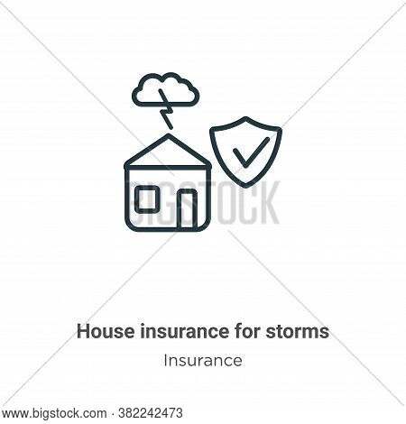 House insurance for storms icon isolated on white background from insurance collection. House insura
