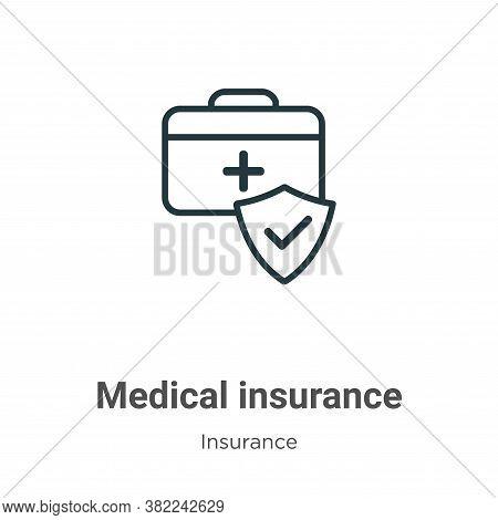 Medical insurance icon isolated on white background from insurance collection. Medical insurance ico