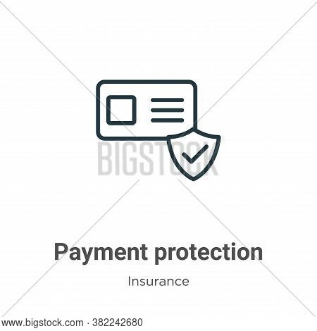 Payment protection icon isolated on white background from insurance collection. Payment protection i