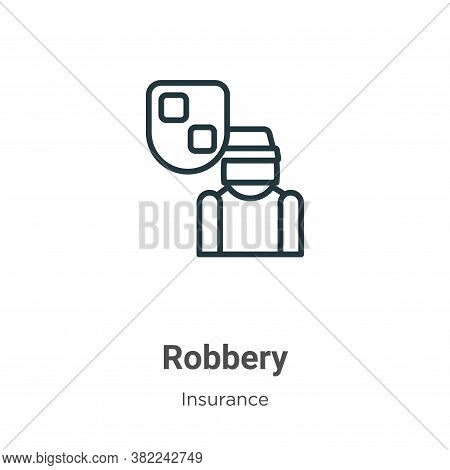 Robbery icon isolated on white background from insurance collection. Robbery icon trendy and modern