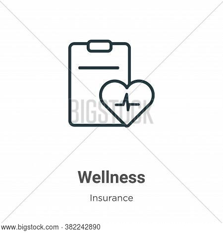Wellness icon isolated on white background from insurance collection. Wellness icon trendy and moder