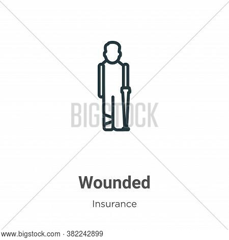 Wounded icon isolated on white background from insurance collection. Wounded icon trendy and modern