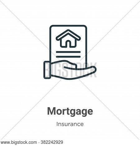 Mortgage icon isolated on white background from insurance collection. Mortgage icon trendy and moder