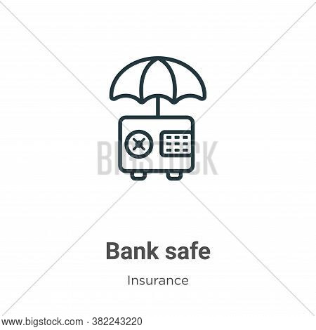 Bank safe icon isolated on white background from insurance collection. Bank safe icon trendy and mod
