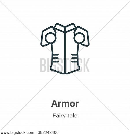 Armor icon isolated on white background from fairy tale collection. Armor icon trendy and modern Arm