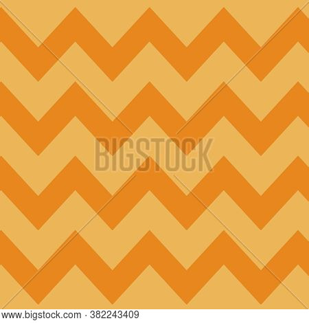 Chevron Pattern Horizontal Orange Background In Light Orange And Medium Orange Color In 12x12 For De