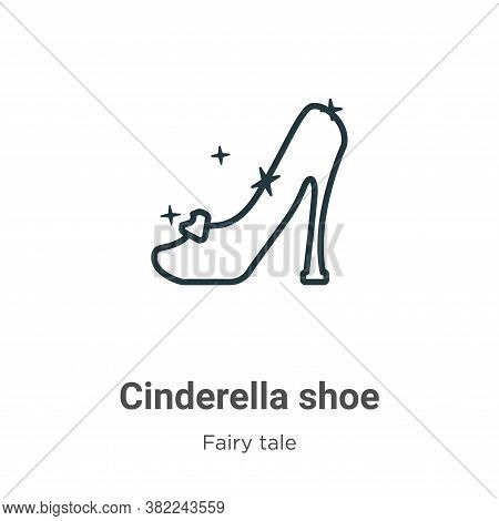 Cinderella shoe icon isolated on white background from fairy tale collection. Cinderella shoe icon t