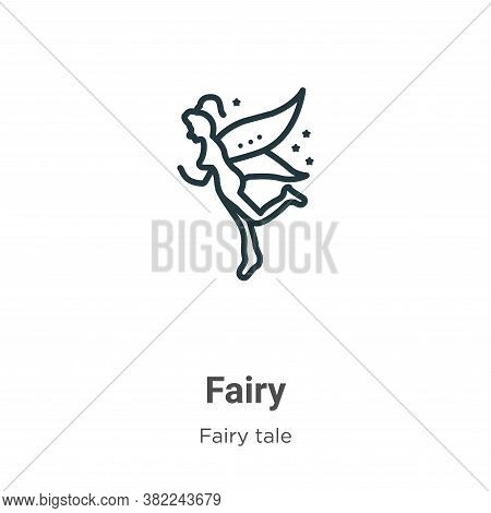 Fairy icon isolated on white background from fairy tale collection. Fairy icon trendy and modern Fai