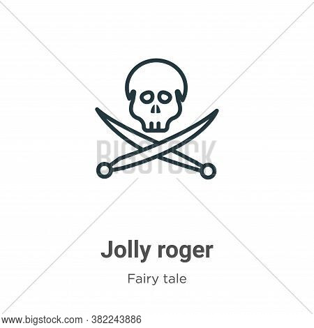 Jolly roger icon isolated on white background from fairy tale collection. Jolly roger icon trendy an