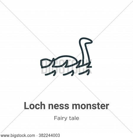 Loch Ness Monster Icon From Fairy Tale Collection Isolated On White Background.