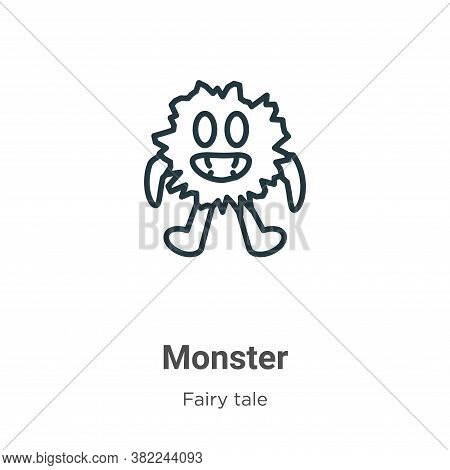 Monster icon isolated on white background from fairy tale collection. Monster icon trendy and modern