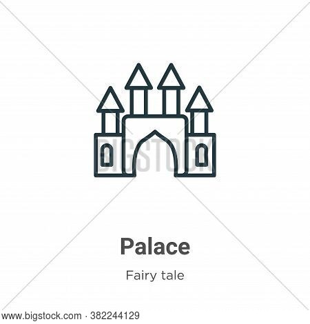 Palace icon isolated on white background from fairy tale collection. Palace icon trendy and modern P