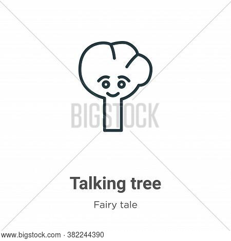 Talking tree icon isolated on white background from fairy tale collection. Talking tree icon trendy