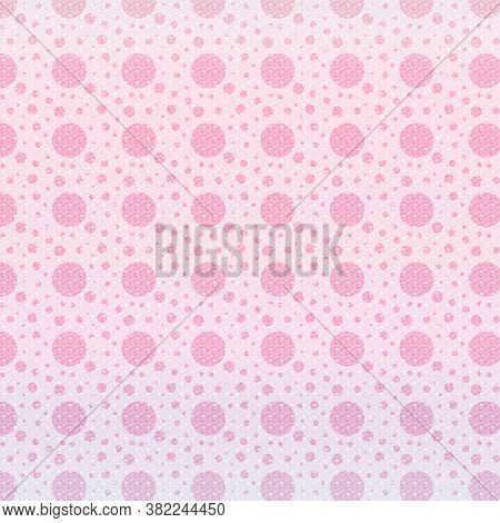 Pink Textured Polka Dots In 12x12 Design Elements For Backgrounds And Patterns.
