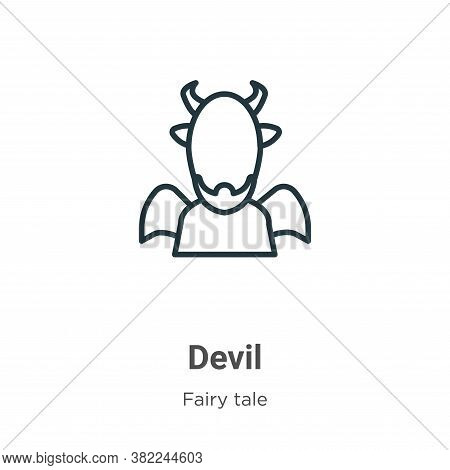 Devil icon isolated on white background from fairy tale collection. Devil icon trendy and modern Dev