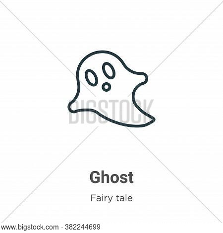 Ghost icon isolated on white background from fairy tale collection. Ghost icon trendy and modern Gho