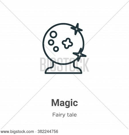 Magic icon isolated on white background from fairy tale collection. Magic icon trendy and modern Mag