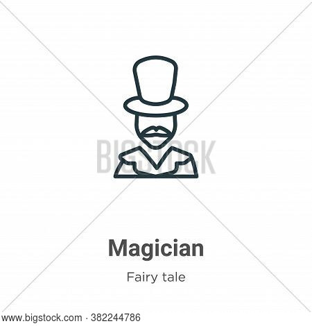 Magician icon isolated on white background from fairy tale collection. Magician icon trendy and mode