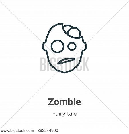 Zombie icon isolated on white background from fairy tale collection. Zombie icon trendy and modern Z