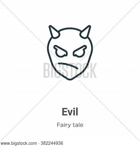 Evil icon isolated on white background from fairy tale collection. Evil icon trendy and modern Evil
