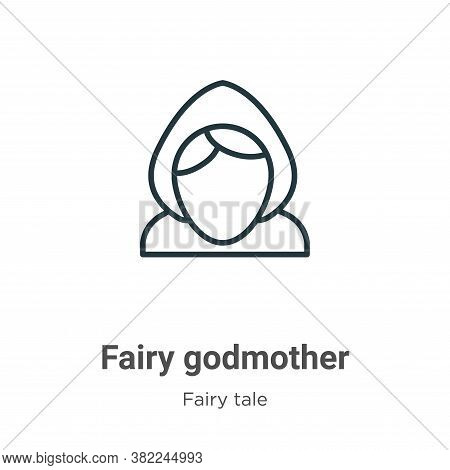 Fairy godmother icon isolated on white background from fairy tale collection. Fairy godmother icon t