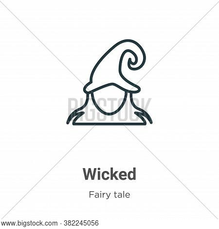 Wicked icon isolated on white background from fairy tale collection. Wicked icon trendy and modern W