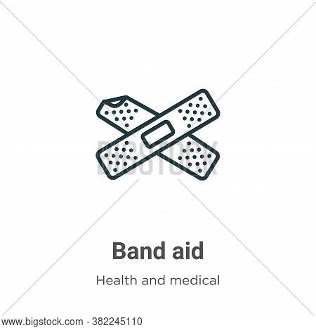 Band aid icon isolated on white background from health and medical collection. Band aid icon trendy