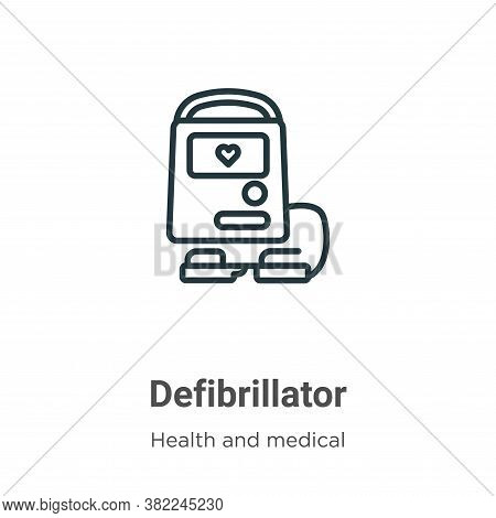 Defibrillator icon isolated on white background from health and medical collection. Defibrillator ic