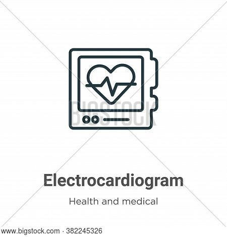 Electrocardiogram icon isolated on white background from health and medical collection. Electrocardi