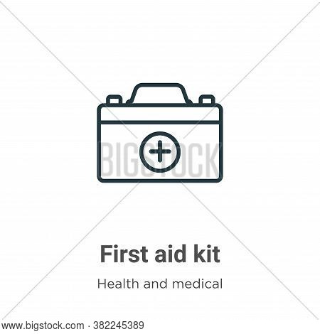 First aid kit icon isolated on white background from health and medical collection. First aid kit ic
