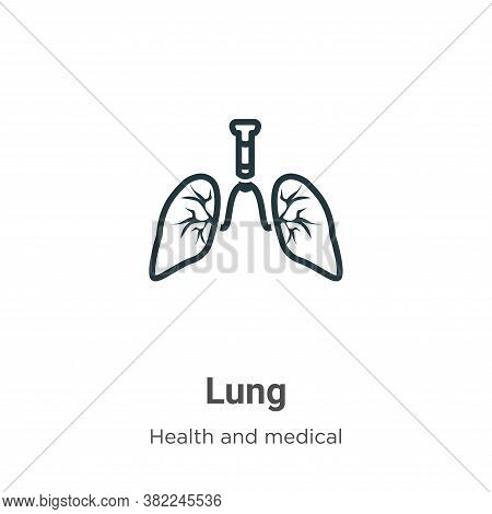 Lung icon isolated on white background from health and medical collection. Lung icon trendy and mode