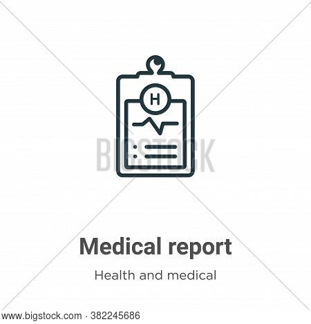 Medical report icon isolated on white background from health and medical collection. Medical report