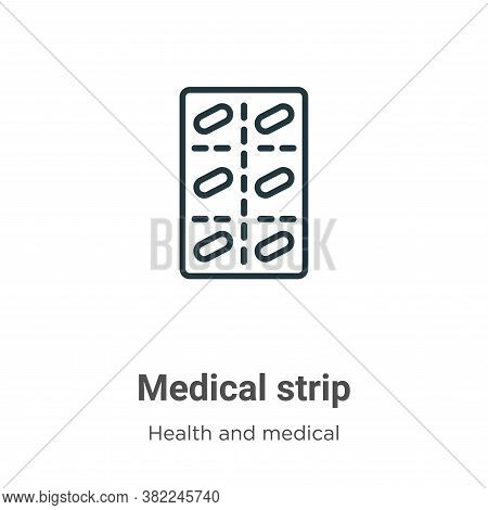 Medical strip icon isolated on white background from health and medical collection. Medical strip ic