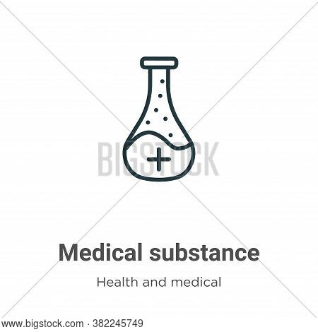Medical substance icon isolated on white background from health and medical collection. Medical subs