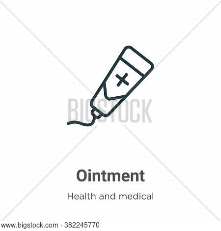Ointment icon isolated on white background from health and medical collection. Ointment icon trendy